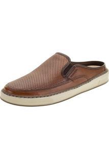 Sapato Masculino Mule Scott Democrata - 257105 Castanho 38