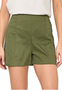 Short Mercatto Liso Verde