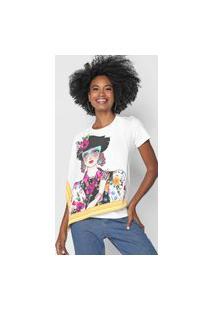Camiseta Lez A Lez Artística Branca