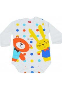 Body Infantil Get Baby Coelho Masculino - Masculino-Branco