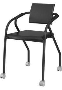 Cadeira 1713 Cor Preto Com Napa Preto - 27687 - Sun House
