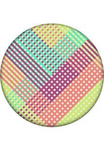 Tapete Love Decor Redondo Wevans Listras Multicolor 94Cm