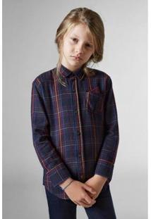 Camisa Infantil Xadrez Reserva Mini Masculina - Masculino-Preto