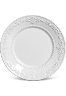 Prato De Sobremesa Acanthus Branco