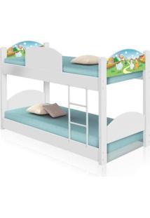 Beliche Infantil Fazendinha Com Colchãµes Casah - Branco/Multicolorido - Dafiti