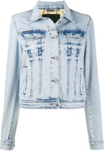 Philipp Plein Jaqueta Jeans Com Lavagem - Azul