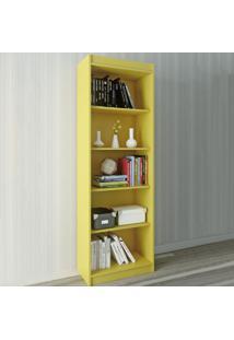 Estante Para Livros Sapiranga 4 Prateleiras Amarelo Acetinado - Atualle Móveis