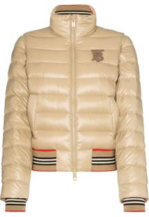 Burberry Cropped Quilted Jacket - Neutro