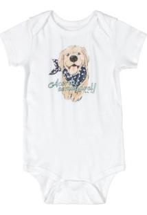 Body Bebê Menino Com Estampa Branco