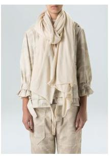 Cachecol Tricot Organic-Offwhite
