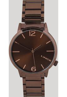 Relógio Analógico Lince Feminino - Lrbj043L N2Nx Marrom - Único