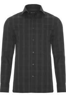 Camisa Masculina Melange - Cinza