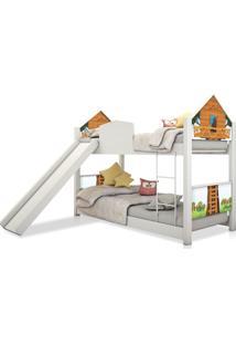 Beliche Infantil Casinha Casa Na Árvore Escorregador Colchão Casah