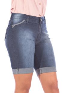 Bermuda Sisal Jeans Ciclista Blue Jeans Stone