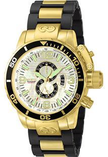 6135d5e3350 Relógio Invicta Analógico Corduba - 4899 Masculino - Masculino-Dourado+Preto