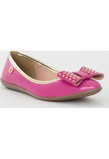 Sapatilha Com Laã§O & Rebites- Pink & Douradacarmen Steffens