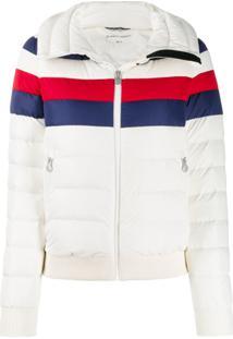 Perfect Moment Queenie Colour-Block Puffer Jacket - Branco