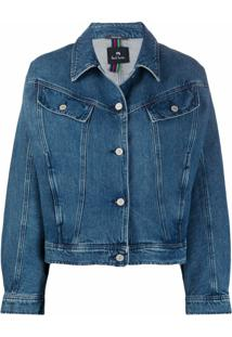 Ps Paul Smith Jaqueta Jeans Ampla - Azul