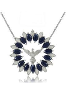Colar Espirito Santo Cristal Azul