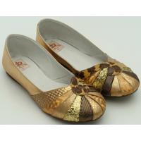 0a53585ccb Sapato Metalizado - Feminino-Dourado