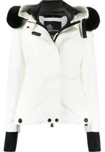 Moncler Grenoble Hooded Down Jacket - Branco