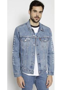 Casaco Jeans Quadriculado - Azul & Off Whitelevis