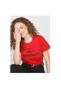 Camiseta Personality Vermelha