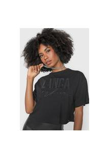 Camiseta Lança Perfume Logo Aplicações Preta