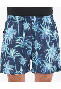 Short Speedo Oahu Flower Estampada Marinho