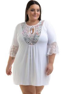 Vestido Plus Size Branco