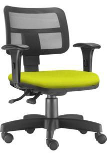 Cadeira Giratória Executiva Lyam Decor Zip Suede Amarelo