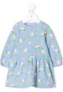 Stella Mccartney Kids Vestido Com Estampa De Rato - Azul
