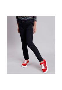 Calça Jeans Infantil Com Tachas Preta