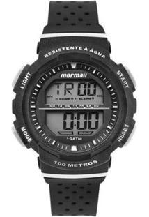 Relógio Mormaii Digital Fun Mo36508R Preto/Branco - Unissex-Preto