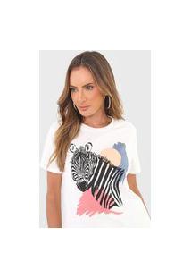 Camiseta Dzarm Zebra Off-White