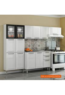 Cozinha Compacta Tarsila L 10 Pt Branca E Preta