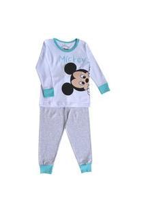Pijama Infantil Evanilda Manga Longa Mickey