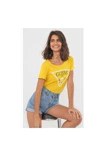 Camiseta Guess Logo Amarela