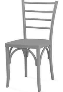 Cadeira Cozinha Charlotte Laca Cinza Concreto - 40,5X49X88 Cm