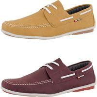 cd892bda25 Kit Dockside Cr Shoes Lançamento Bordô E Amarelo