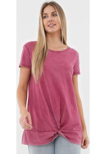 Camiseta Gap Torção Rosa