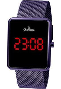 Relógio Champion Digital Led - Feminino-Roxo