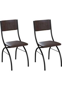 Conjunto Com 2 Cadeiras Dubbo Tabaco E Preto