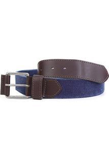 Cinto Shoestock Casual Cadarço Masculino - Masculino-Azul