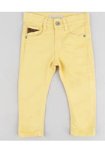 Calça Color Infantil Amarela