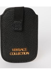 Porta Celular Texturizado - Preto - 12X8X0,5Cmversace Collection