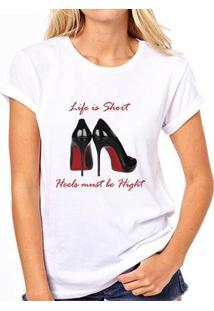 Camiseta Coolest Loubotin Feminina - Feminino-Branco
