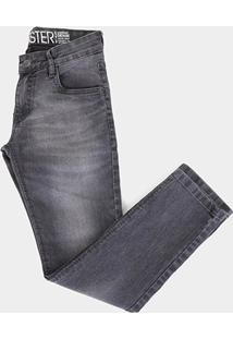 Calça Jeans Juvenil Gansgter Estonada Masculina - Masculino-Jeans