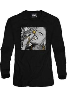 Casaco Moletom Skull Clothing Chris Breezy Masculino - Masculino-Preto