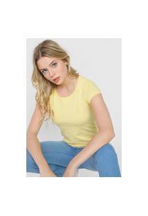 Camiseta Polo Wear Logo Bordado Amarela